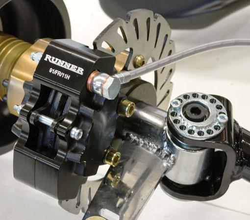 Haase kart braking systems